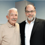 Dr. Fedder with spine surgery patient, Henry Koch