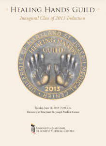 Healing Hands Guild - Inaugural Class of 2013 Induction