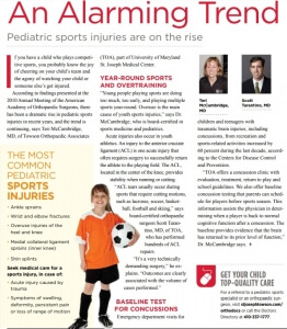 Common Pediatric Sports Injuries