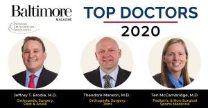 Baltimore Top Doctors-2020 - Towson Orthopaedics
