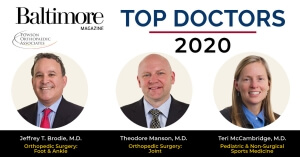 Baltimore Top Doctors-2020 - Towson Orthopaedics
