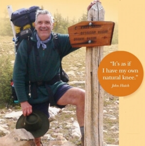 Happy Trails for Hiker After Rotating Knee Replacement