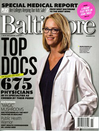 Baltimore Magazine: Top Docs April 2016
